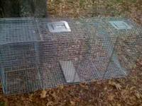 For sale is a new large live trap for coyote or similar