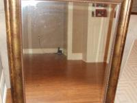 NEW LARGE MIRROR Measures 28w X 34h. EXCELLENT/PERFECT
