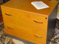 This file cabinet is fully assembled and is in