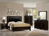 INCLUDES: DRESSOR, MIRROR, NIGHTSTAND, AND BED    ON