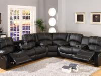 ()()()WAREHOUSE PRICE *** LEATHER SECTIONAL W/4