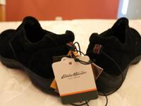 Brand new Eddie Bauer slip on shoes, color black, size