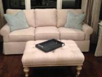 "Brand New Linen Sofa, 84"" Wide x 40"" Deep, in Cream"