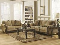 This new living room set by Ashley furniture includes