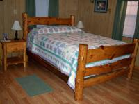 New Log Bed Queen Size (shown in picture) $450 Beds