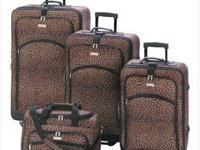 On sale now Set of 4 or 5 Leopard Print Luggage