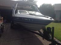 Bay liner with a NEW CHEVY 350 MARINE GRADE MOTOR. The