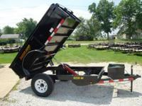 MASTER DUMP TRAILERS BY DOOLITTLE MD60X8 5000 LB. 8'