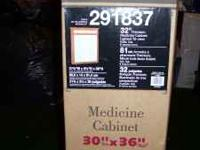 "New Medicine Cabinet 30"" x 36"" For more info please"