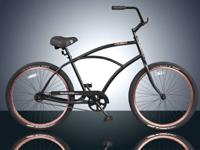 "** Brand New 26"" Mens single speed  BEACH CRUISER BIKE"