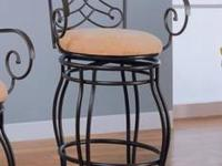 METAL ADJUSTABLE BARSTOOL ADJUSTS FROM 38.75''H TO