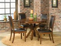 BRAND NEW METAL DINING SET INCLUDES GLASS TOP TABLE AND