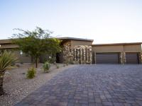 This New Mid Century Warm Contemporary Custom Home is