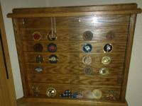 Military Service Coin Display Case Solid OAK With