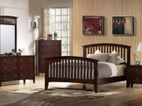 Great Queen size Mission Style Bedroom set includes bed