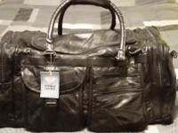 DIAMOND PLATE BUFFALO LEATHER NEW ! LARGE LEATHER BAG