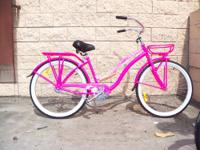 NEW! Ladies 26? super Beach Cruiser with rack and
