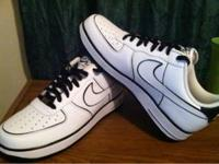 Brand New!! Black and White 12.5 Nike Air Force For