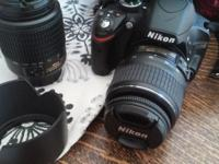Brand new, brand new, nikon d3200 with afs dx zoom