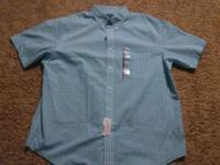 A nice blue mens shirt by Croft and Barrow. Find this