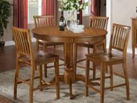 ** NEW ** Oak Finish Counter Height Dining Set $350.