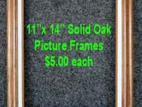OAK PICTURE FRAMES PRIVATE PARTY NOT A DEALER These are