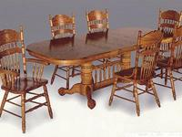 This is a new (factory boxed) Oak Dining Room Set.