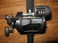 nice new LEFT HAND retrieve okuma magda pro ma 20dlx