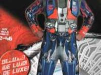 New Optimus Prime Transformers Costume with chest plate