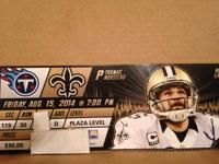Saints vs Titans lower level plaza ticket section 119