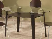 NEW ORVAL GLASS TOP DINING TABLE. Rejuvenate your