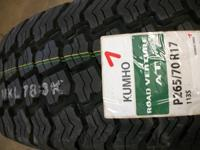 We just got a load of these in, size P265/70/R17 Kumho