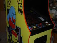 This is a brand new Midway cabinet with Pacman artwork