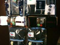 New packages of mens socks:   Two 6-pair packages of