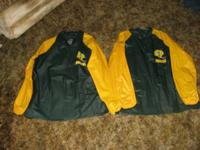 GREENBAY JACKETS.  Right here are 2 NEW Greenbay Packer