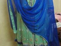Brand new wedding lehnga. Gorgeous green and navy blue