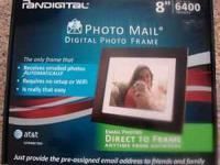"New in box, never opened Pandigital 8"" photo frame with"