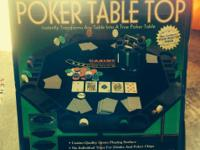 Brand new poker table top. Still in box