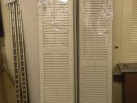 White window shutters brand new never used