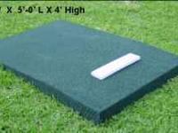 "NEW portable pitching mounds Rectangle Mound 3'-6"" W X"