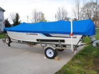1988 16Ft Grumman Side Console Fishing Boat with 1986