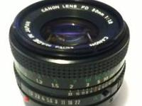 Canon 50mmf/1.8 FD Lens **MINT CONDITION** I do NOT