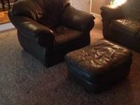For Sale is real leather furniture! Couch, chair and