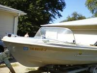 1970 Shell lake V-bottom fiberglass 16ft. with 1978