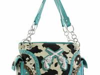Cow Print Turquoise Concealed Handgun Carrying call or