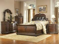 The Palace 7pc Queen bedroom collection has genuine
