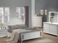 This NEW bedroom set includes a queen size bed