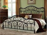 New Queen Pewter Metal Bed with Queen Cushion & Box