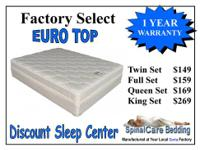 We have NEW Brand Name mattress sets starting at $149.
