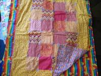 NEW HAND MADE QUILTED CHILDREN BLANKETS.